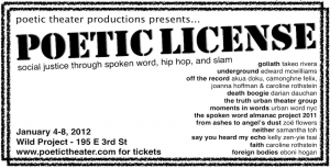 "Poetic Theater Productions presents ""Poetic License"""
