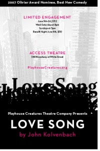 """Playhouse Creatures' production of """"Love Song"""""""