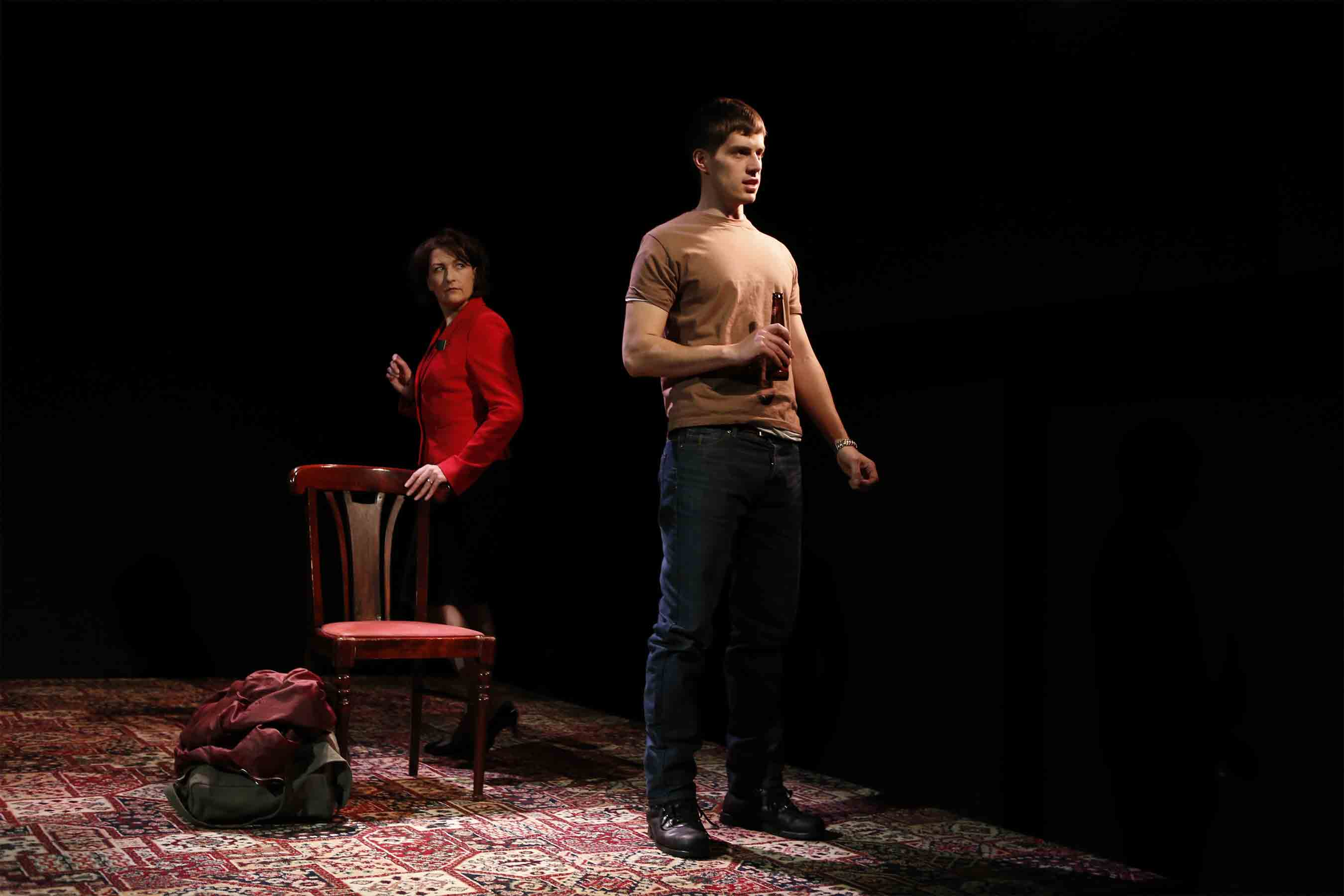 Blythe Duff and Andrew Scott-Ramsay star in David Harrower's GOOD WITH PEOPLE, photo by Carol Rosegg