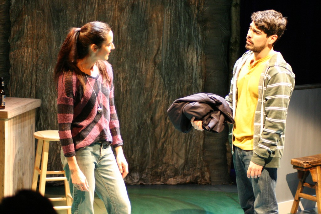 "Tanis Parenteau as Connie & Raul Castillo as Brewster in a still from ""Smoke,"" by Vickie Ramirez, directed by Richard C. Aven, photo by Freddie Maloney"