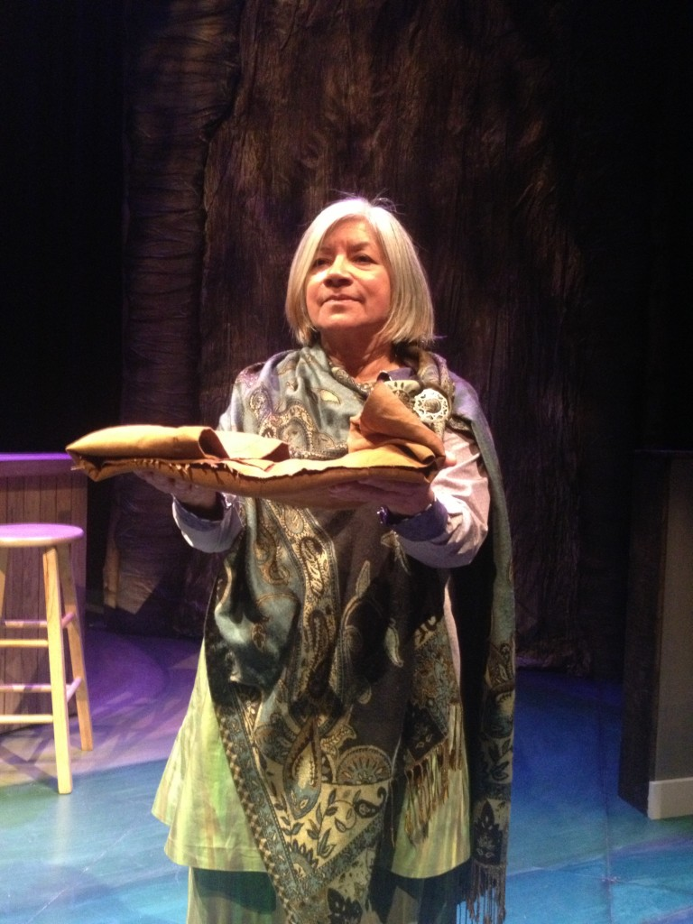 "Soni Moreno as Skywoman, in a still from ""Smoke,"" by Vickie Ramirez, directed by Richard C. Aven, photo by Richard C. Aven"