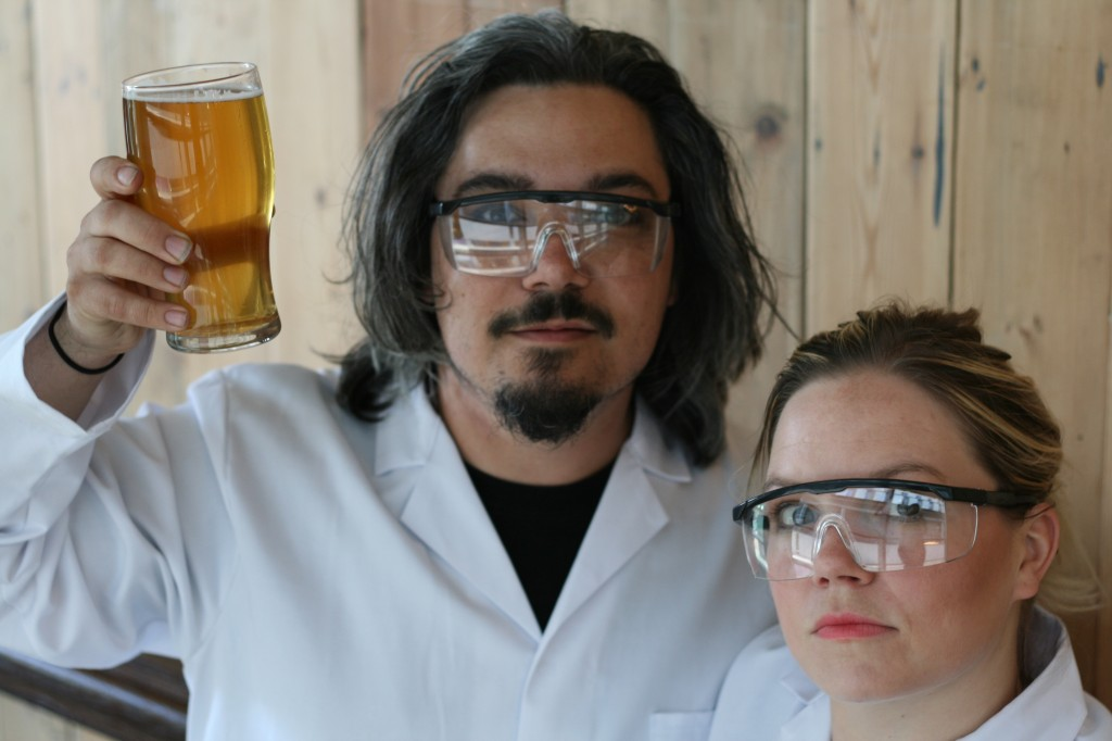 William Glenn and Trish Parry of A Brief History of Beer, photo by Alexandra Piprek