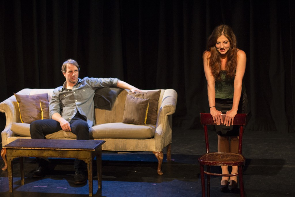 In Extremis Theater Company presents Happy, written by Liz Thaler and directed by Lauren Miller, photo by Clark Kim