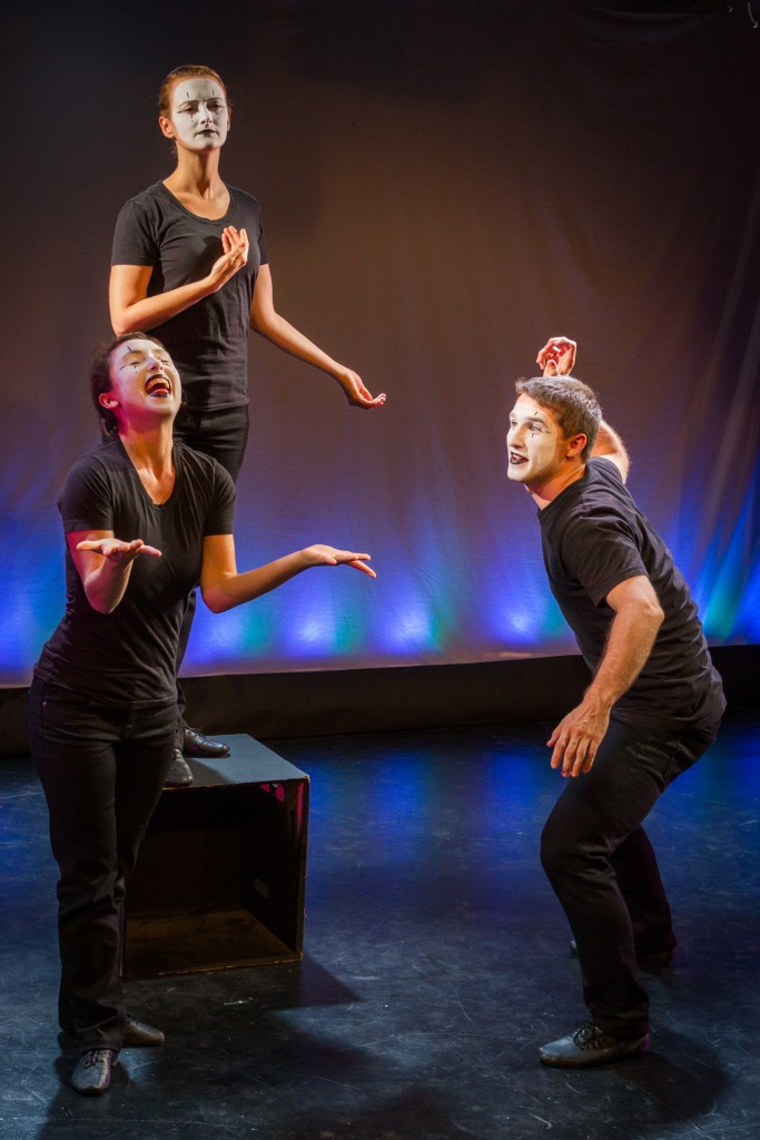 Broken Box Mime Theater presents ABOVE/BELOW at HERE Arts Center, photo by Bjorn Bolinder