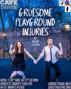 Cave Theatre Company presents Rajiv Joseph's GRUESOME PLAYGROUND INJURIES