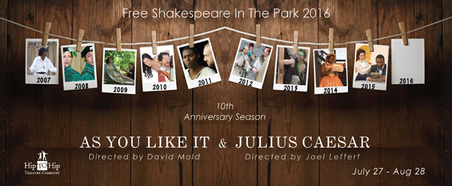 Hip to Hip Theatre Company presents As You Like It and Julius Caesar