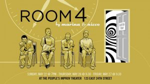 Marina and Nicco present ROOM 4 at The PIT, graphic by Chris Kalb