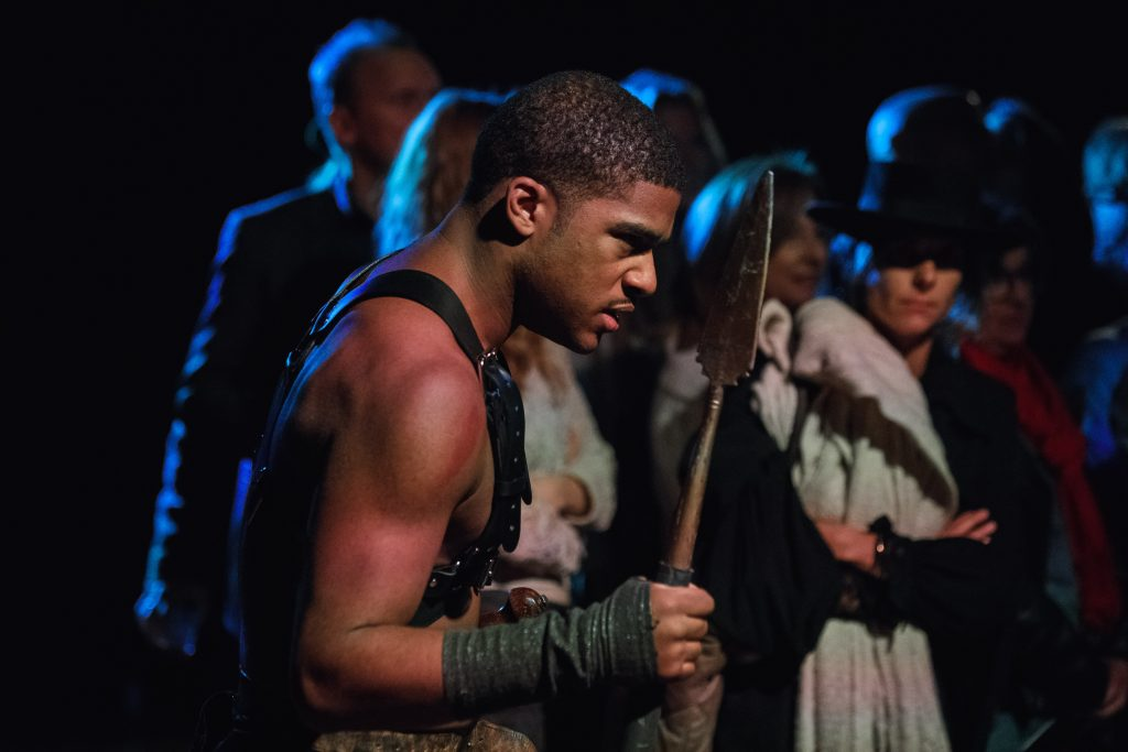 Coriolanus: From Man to Dragon, adapted from William Shakespeare by Omri Kadim, presented by Combative Theatre Company and Shakespeare in the Square, photo by Emilio Madrid-Kuser