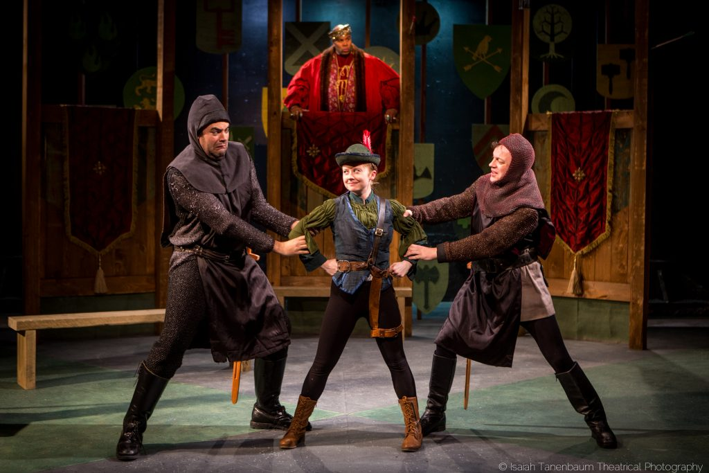 Flux Theatre Ensemble presents MARIAN, OR, THE TRUE TALE OF ROBIN HOOD by Adam Szymkowicz, directed by Kelly O'Donnell, at The New Ohio, photo by Isaiah Tanenbaum Theatrical Photography