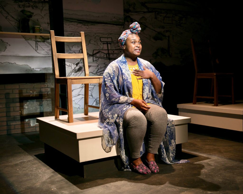 Dutch Kills Theater Company presents THE PROVIDENCE OF NEIGHBORING BODIES, written by Jess Ann Douglass, directed by Jess Chayes, photo by Christopher Genovese