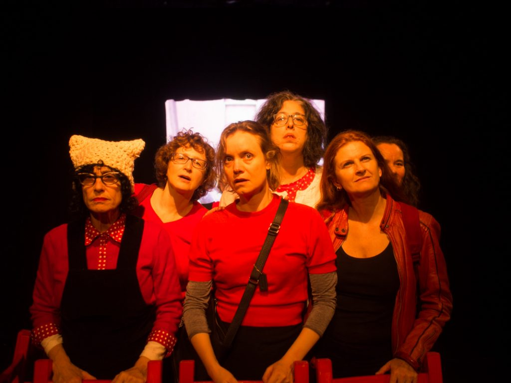 Theater of the Apes presents ZAMBONI GODOT, written and directed by Ayun Halliday, photo by Sue Jaye Johnson
