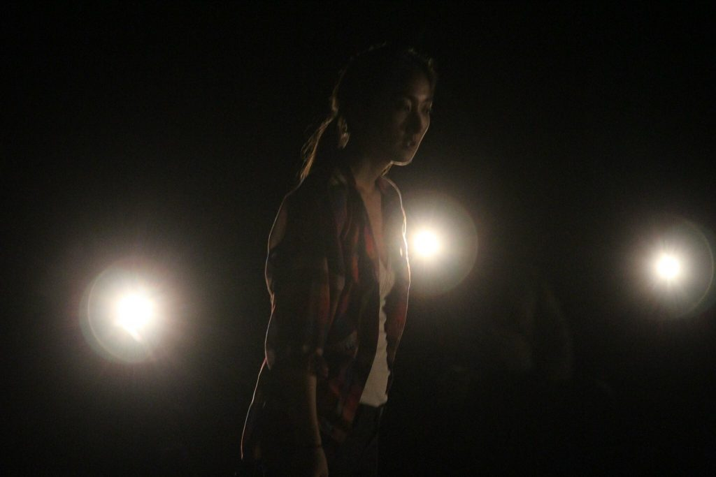 Marina and Nicco present UNPACKING, a Ghost Story Told in the Dark, at HERE Arts Center, photo by Giancarlo Osaben
