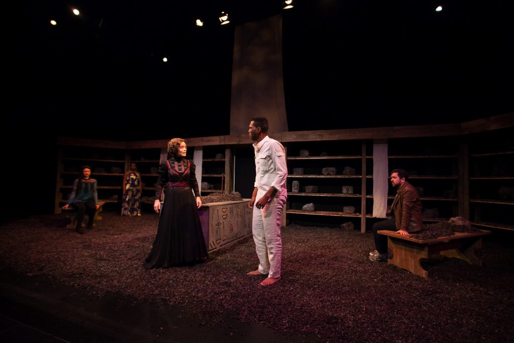 Flux Theatre Ensemble presents AM I DEAD? THE UNTRUE NARRATIVE OF ANATOMICAL LEWIS, THE SLAVE written by Kevin R. Free, directed by Heather Cohn, at The 14th Street Y, photo by Justin Hoch