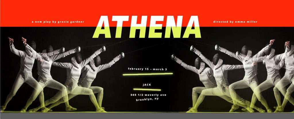 The Hearth presents ATHENA, written by Gracie Gardner, directed by Emma Miller, at JACK