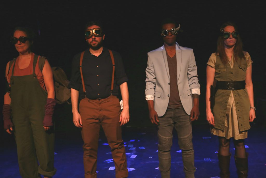 New York Neo-Futurists present WIND-UP VARIATIONS, created, written, and directed by Rob Neill, photo by Anthony Dean