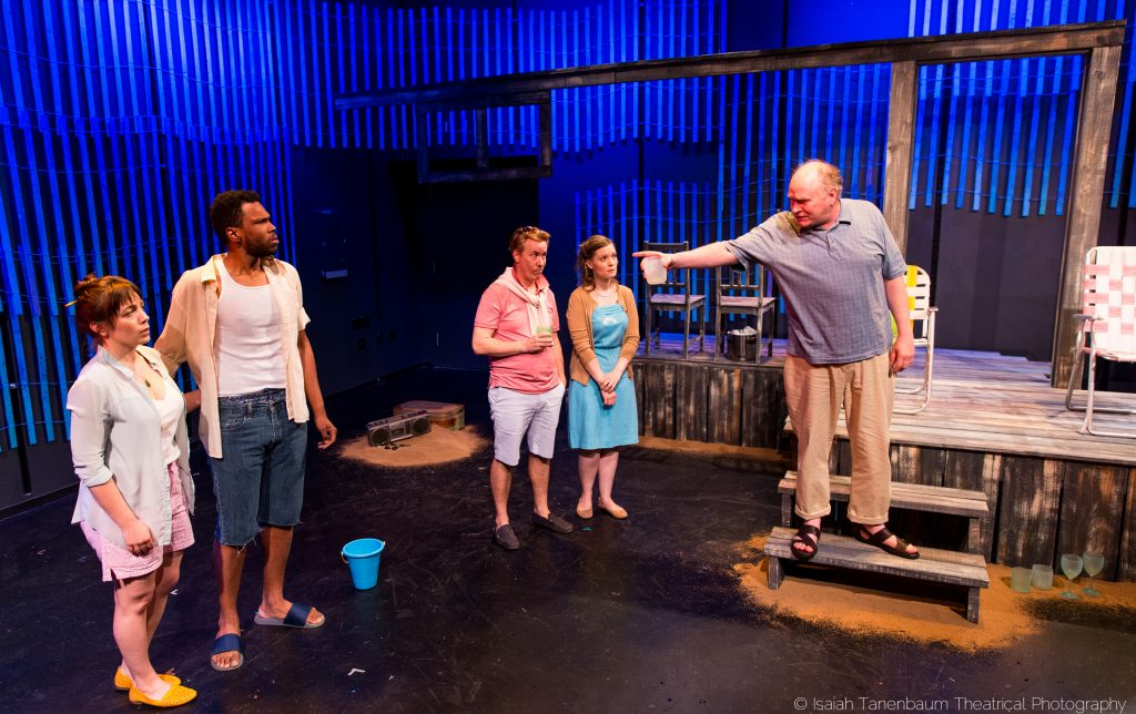 Flux Theatre Ensemble presents THE SEA CONCERTO, written by August Schulenburg, directed by Heather Cohn and Kelly O'Donnell, photo by Isaiah Tanenbaum Theatrical Photography, www.isaiahtpd.info