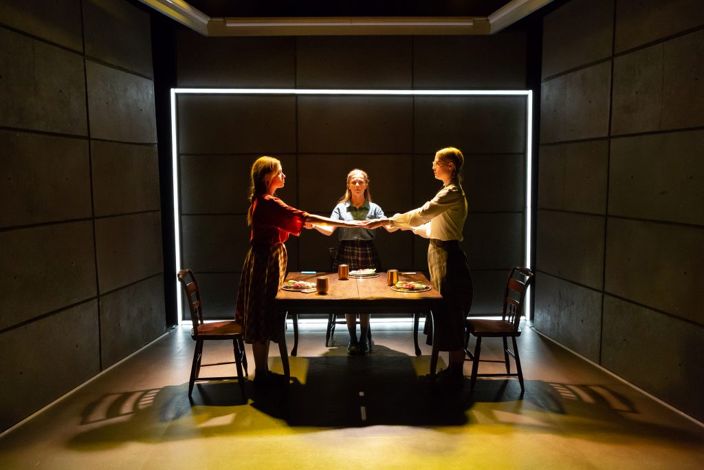 IRT presents New Light Theater Project's HITLER'S TASTERS, written by Michelle Kholos Brooks, directed by Sarah Norris, at IRT Theater, photo by Hunter Canning