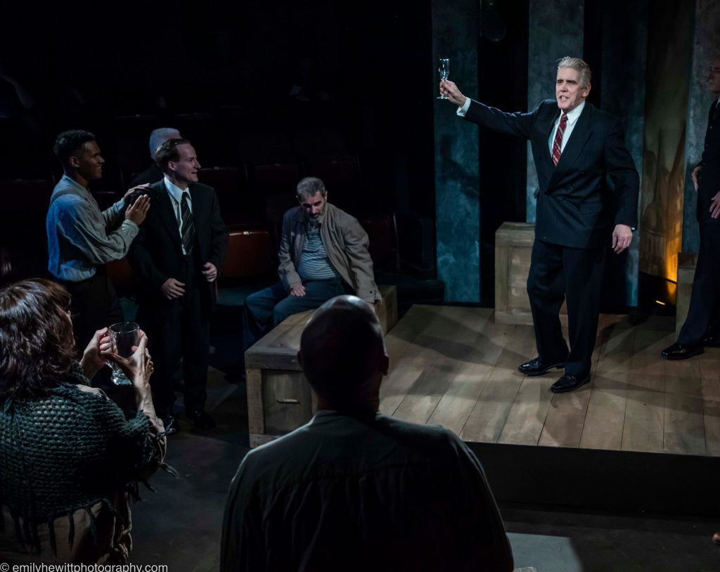 Metropolitan Playhouse presents SHADOW OF HEROES, written by Robert Ardrey, directed by Alex Roe, photo by Emily Hewitt