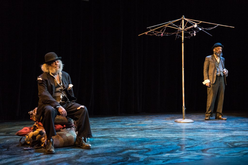 New Yiddish Rep presents Samuel Beckett's WAITING FOR GODOT, translated by Shane Baker, directed by Ronit Muszkablit, photo by Dina Raketa