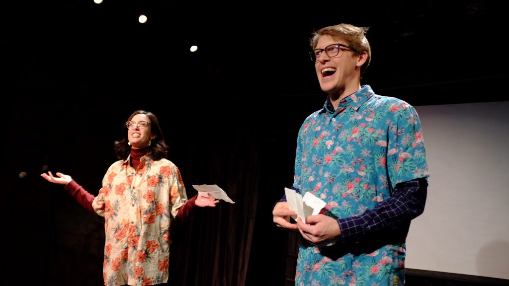 Conrad Kluck, Alex Randrup, and Horse Trade Theatre Group present FEAST: A Performance Series at UNDER St. Marks Theater, featuring Jack & Melissa, photo by Sam Horvath