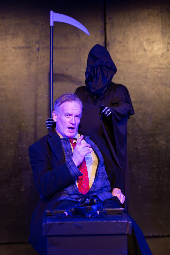 FRIGID New York and Hub Theatrical present CC: YOU IN HELL! written by Mark Levy, directed by Janet Bentley, in the 2019 FRIGID Festival at The Kraine Theater, photo by Arin Sang-urai