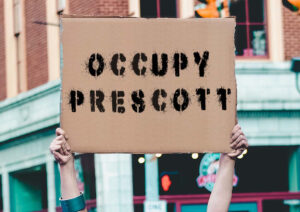 Theatre in Asylum presents OCCUPY PRESCOTT, written by Andy Boyd, directed by Katie Palmer and Paul Bedard, at Jalopy Tavern, Brooklyn